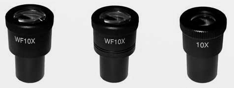 10X Eyepiece with Scale & Crosshair Focussing FN22 Fits 23.2mm Diam. Tube