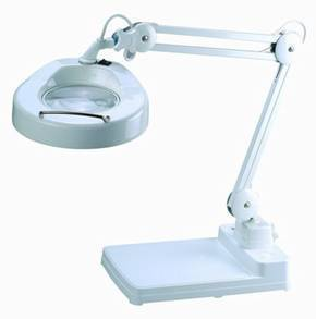 3x Led Illuminated Desk Stand Magnifier Large Lens Long