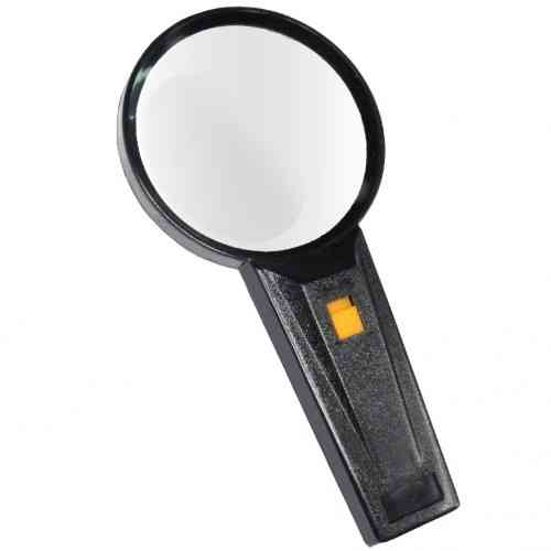 2X Illuminated Hand Magnifier, Large 90mm Diameter Lens