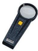 5X Illuminated Hand Magnifier, 51mm Diameter Lens