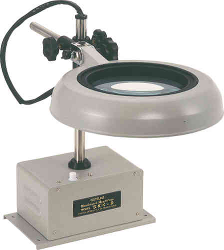 2X-15X Illuminated Compact Desk Mounted Magnifiers, Industrial with Changeable Lenses. Otsuka Brand.