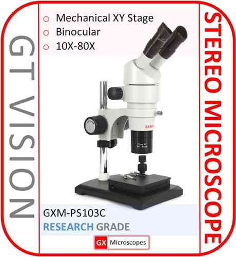 GXM-PS103C, 8X - 80X Continuous Zoom Magnification, Binocular Stereo Microscope
