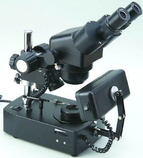 GXM-JW-7E, 10X - 40X Binocular, Zoom Magnification, Gemological Microscope, Additional Illumination