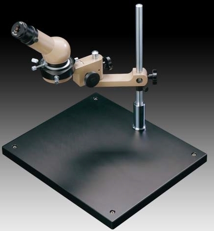 MMSYS-11 Microscope System with 45 Deg Head, 20X Mag., Large Stand and Micrometer. Options to 200X