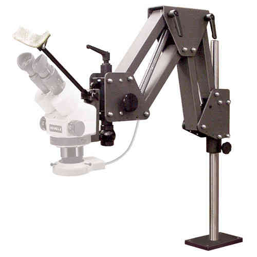 GXM-V10 Microscope Stand with Head Rest and Microscope Holder - Ultra-Stable, Long Reach, Ergonomic