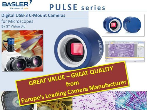 Basler PULSE Series - USB-3 C-Mount  Microscopy Camera Series + Software