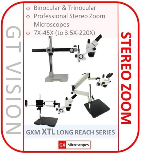 XTL Stereo Microscope,7X-45X Long Reach Stands