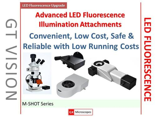 Advanced, Low Cost, LED Fluorescence Illumination Attachments by MSHOT