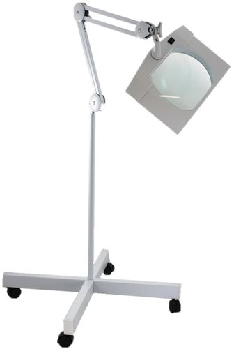 SUPER-WIDE LENS, Long Reach, Articulated, Floor Stand, LED Magnifier, 2.25X(5D) -Top Quality Optics