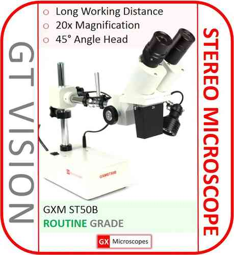 GXM-ST50B 20X Single Magnification, Binocular Stereo Microscope