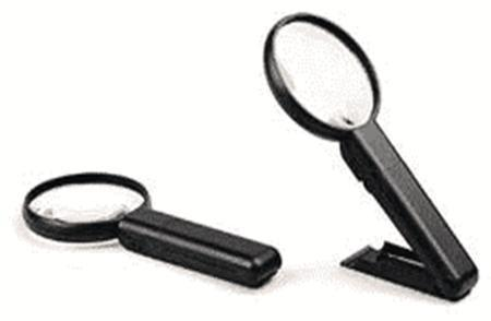 2X/4X LED Hand Magnifier, Bifocal, 90mm Diam. Multi-Angle with Stand, Highest Quality