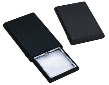2X LED Illuminated, Pop-Up, Credit Card Size, Hand Magnifier, 45 X 45mm Lens