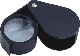 10X Hand Loupe Magnifier, Large 51mm Diam. Plastic Frame.