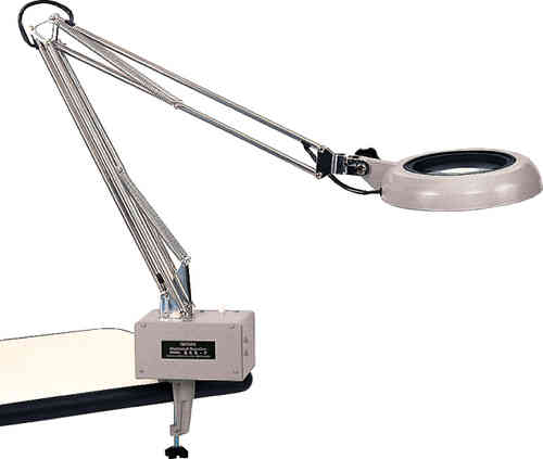 2X-15X Illuminated G-Clamp Magnifiers Industrial Grade with Interchangeable Lenses. Otsuka Brand.
