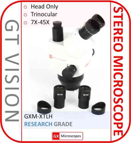 XTL Stereo Zoom Microscope 7X - 45X, Trinocular Head Only