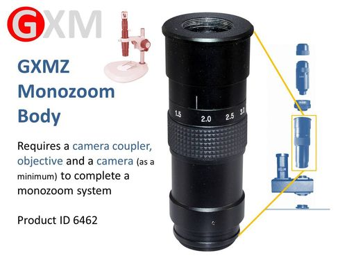 GXMZ SYSTEM - Build Your Monozoom Microscope System Here. Zoom Body - Other Parts Required