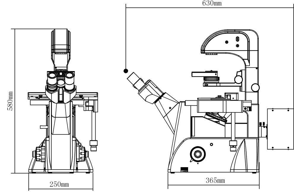 xdy-2led series inverted led fluorescence microscopes with ... epifluorescence microscope diagram