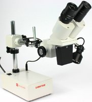 ST50 Long Reach, LWD, Single Mag Stereo Microscope Range, top light, 10X Expandable to 5X-20X