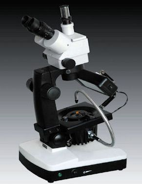 GXM-JW-H3, 7.5 -50X Trinocular, Zoom Magnification, Gemological Microscope, Additional Illumination