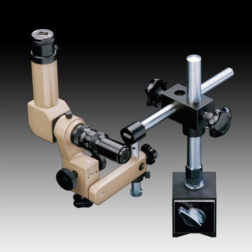 MMSYS-7 Microscope. 90deg Head, 7X-45X Zoom on Magnetic Pillar Stand with Swing Arm, Options to 90X
