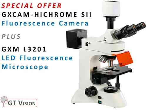 GXM-L3201 LED, Research, Fluorescence Microscope + HICHROME SII Fluorescence Camera SPECIAL OFFER