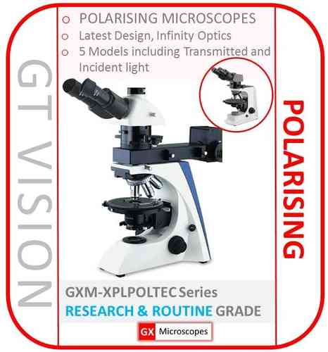 GXM-XPLPOLTEC Series of Great Value, Advanced Design, Modern Polarising Microscopes. SELECT MODEL: