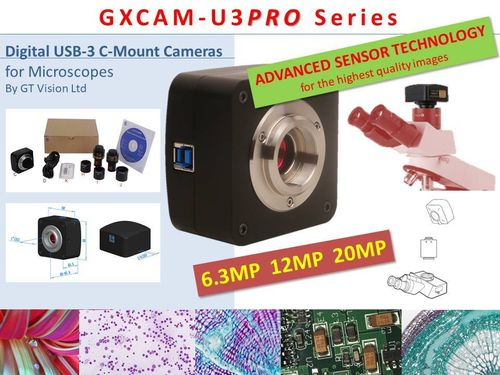 GXCAM-U3PRO USB-3, 6.3MP-20MP, Advanced Sensor C-Mount Camera Series + GXCaptureT Software