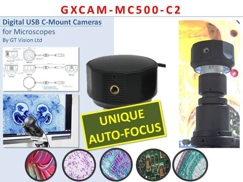 GXCAM-MC500-C Unique AUTO-FOCUS 5MP Digital, USB, C-Mount Camera with Powerful GXCapture-O Software