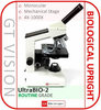 UltraBIO-2 Series 40X-1000X Teaching, Biological, Monocular Microscope With Portable Option