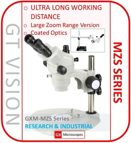 MZS Series 7X - 65X Magnification, Stereo Zoom Trinocular Microscope