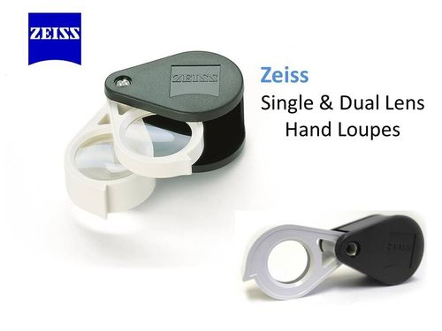 Zeiss 9X 22mm Diameter Aplanatic-achromatic Pocket Magnifier Folding Loupe D24 +12D AR