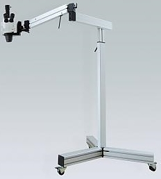 Mobile Floor Stand - Industrial Grade - Quick and Easy 360 ° positioning of microscope heads