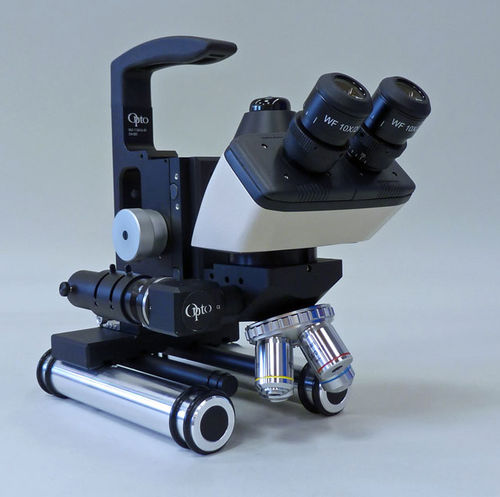 Portable Metallurgical Measuring Microscope with Height Measurement Gauge & Camera Port 500X
