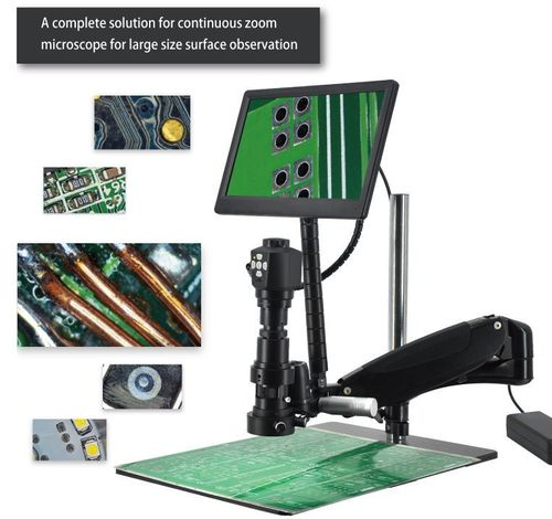 Long Reach Digital  Inspection Microscope with Camera HD Live Output with Display - UltraDIGI-HD62