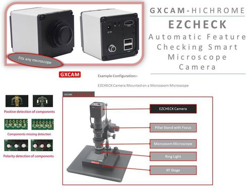 GXCAM-HiChrome EZCHECK Automatic Feature Checking HDMI C-Mount Microscope Camera