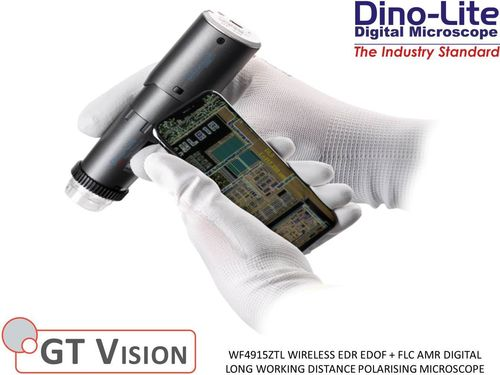 Dino-Lite WF4915ZTL Digital Wireless EDR/EDOF + AMR/FLC Polarising LWD Microscope 10-140X 1.3MP