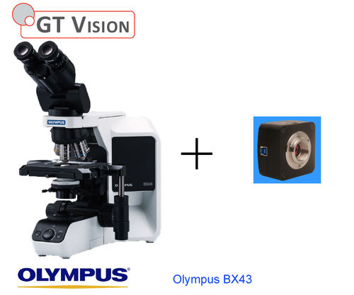 Olympus BX43 40X-1000X Research, Biological, Trinocular Microscope with Std Camera