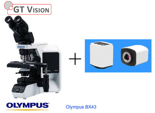 Olympus BX43 40X-1000X Research, Biological, Trinocular Microscope with Prm Camera