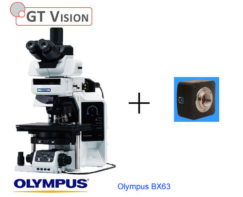 Olympus-BX63 40X-1000X Advanced Research, Biological, Trinocular Microscope with Std Camera