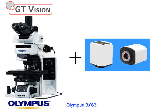 Olympus-BX63 40X-1000X Advanced Research, Biological, Trinocular Microscope with Prm Camera
