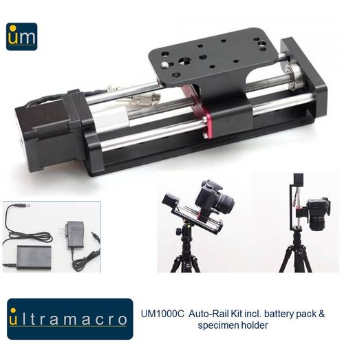 UltraMacro/WeMacro Auto-Rail Kit - incl. power pack connection & specimen holder UM1000C