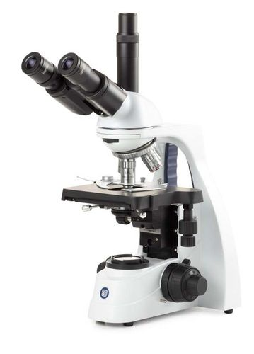 bScope trinocular microscope, E-plan 4/10/40/100x objectives, NeoLED Köhler illumination