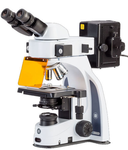 iScope binocular fluorescence microscope Fluarex 4/10/40/100x objectives, 3 filter positions