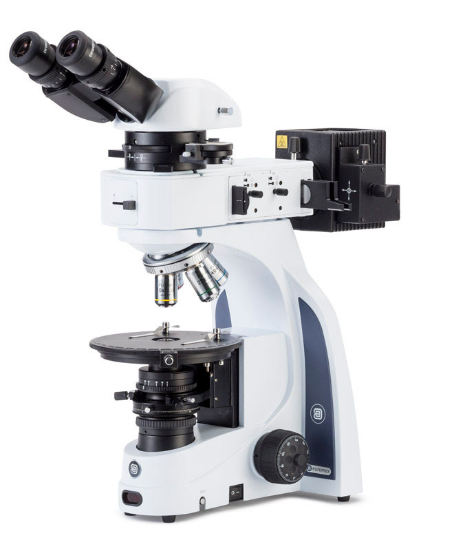 iScope binocular polarising microscope with transmitted and reflected illumination