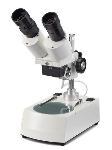 AP stereomicroscope inclined head 20x magnification incident and transmitted illumination