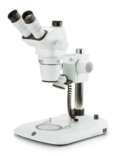NexiusZoom trinocular stereomicroscope pillar stand incident & transmitted illumination ESD version