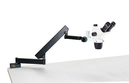 NexiusZoom EVO trinocular stereomicroscope articulated stand for table mouting no illumination