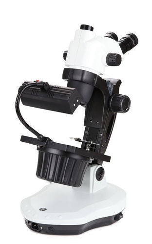 NexiusZoom trinocular gemology stereomicroscope 0.65-5.5 objective fluorescent incident illumination