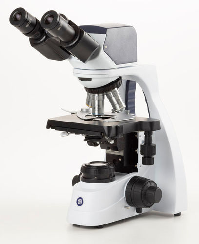 bScope 5MP digital phase binocular microscope, E-plan 4/10/40/100x objectives, NeoLED illumination
