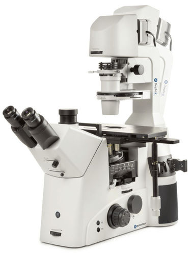Delphi-X Inverso inverted microscope 10/20/40x objectives halogen illumination